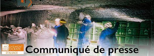Stocamine, une question de conscience et d'éthique en politique : la position du MoDem Alsace