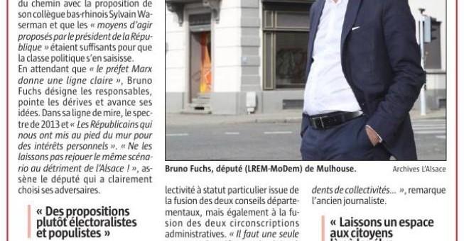 Bruno Fuchs «Arrêtons de jouer avec le feu»